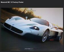 Maserati MC12 Factory Out Of Print Car Poster Extremely Rare!!