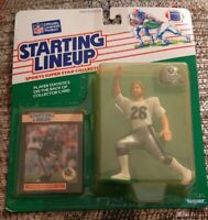 1989 Vann McElroy Oakland Raiders Rookie Kenner Starting Lineup yellow bubble