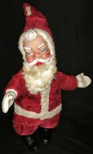 "Vintage Rubber Face Santa Doll 20"" Tall 1950's"