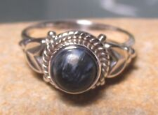 Sterling silver cabochon Pietersite everyday ring UK I¾/US 4.75