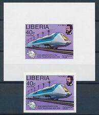 Echte Briefmarken aus Afrika mit Eisenbahn-Motiv
