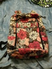 Vera Bradley Mocha Rouge retired 7/11-11/12 Laptop Backpack Commute School Work