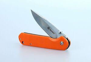 Ganzo G6801 Folding Knife 440c Blade Orange G10 Handle Liner Lock - New