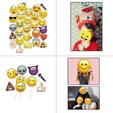 Emoji Face Props Photo Booth Funny Mask Birthday Party Photography Selfie Kit