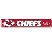 "Kansas City Chiefs Ave Street Sign 4""x24"" NFL Football Team Logo Avenue Man Cave"
