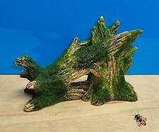 Wood Tree Log Aquarium Ornament Green Moss Fish Tank Bowl Decoration New