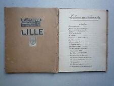 1938 CAHIER MANUSCRIT SUR LES FEMMES DANS L'HISTOIRE DE LILLE 40 HISTOIRES