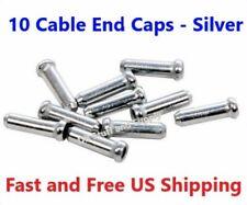 10 Cable End Caps - Bicycle Brake Derailleur Cable End Caps - Aluminum Silver
