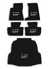 2004-2007 Cadillac CTS-V - Ebony Velourtex Carpet 5pc Floor Mat Set with Logo
