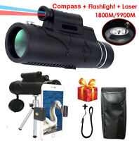 12 x 50 Telescope Flashlight+infrared Distance Angle Monocular Outdoor Hiking