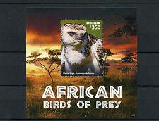 Liberia 2015 MNH African Birds of Prey 1v S/S Martial Eagle