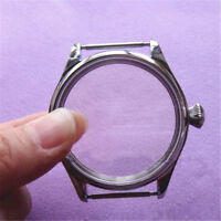 44mm Stainless Steel Watch Case Fit Swiss 6497 6498 Seagull ST3600/3621 Movement