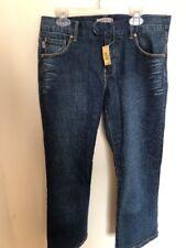NWT Max Studio Blue Dark Wash Capri Cropped Straight Jeans Size 8