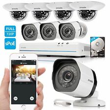 Zmodo 8CH 1080p HDMI NVR 1.0MP HD Network IR-cut Home Security Camera System 2TB