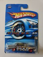 HOT WHEELS 1957 CHEVY BEL AIR 3/5 #83 DIECAST 1:64 MATTEL 2006 MOC! NEW ON CARD