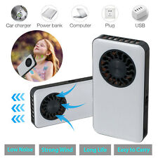 USB Rechargeable Mini Portable Pocket Cooling Fan Air HandHeld Travel Cooler - White