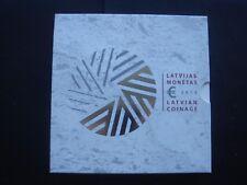 Latvia 2015 coin set BU 1 cent 2 euro plus 2 euro commemorative stork 5,88euro