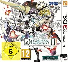7th Dragon III 3 Code VFO Nintendo 3DS Game Spiel + Artbook Fantasy Dt Ware Neu