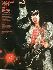 KISS God of Thunder lyrics magazine PHOTO / mini Poster 11x8""