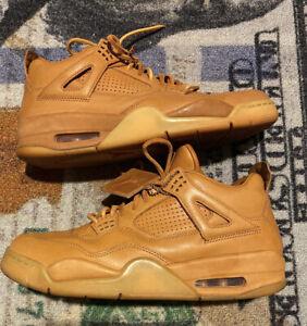 Nike Air Jordan 4 Retro Premium Wheat Men's Size 10 Ginger Gum 819139-205