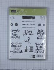 Stampin' Up! LOVE YOU SEW clear-mounted stamp set, 18 stamps, hostess exclusive