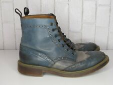 ALDO MR. B's MEN'S WINGTIP BOOTS BLUE BROWN SUEDE AND LEATHER SIZE 44
