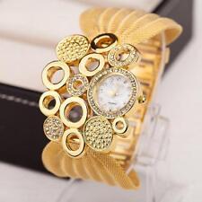 Superbe Montre BIJOU Quartz Chic Femme Beau Cadran LARGE Bracelet Métal PROMO