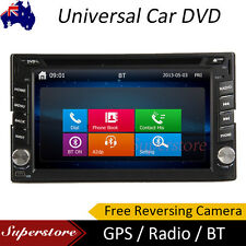 "6.2"" Universal Touch Screen Double DIN Car DVD Stereo Radio GPS Bluetooth CD"
