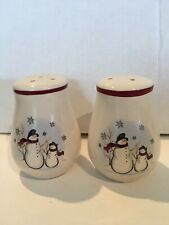 Royal Seasons Stoneware Snowman Salt & Pepper Shakers