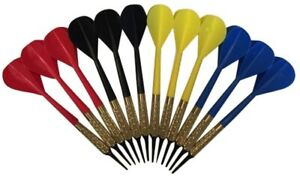 Arachnid 12 Plastic Soft Tip Darts Assorted Colors Pub Bar Darts