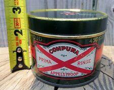 Holland Apple Syrup tin, advertising, Tiel, Appelstroop Compura Flipje Van Tiel