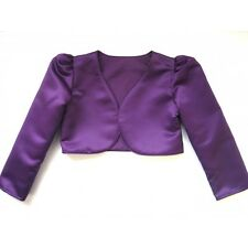 Girls Bolero Cardigan  Shrug Long Sleeve Wedding Flower Girl Christening