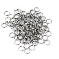 Packung 100 Stück Sprengringe rund Split Ring rostfrei Edelstahl 6mm Ange NUM