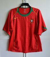 PORTUGAL NATIONAL TEAM 2004/2006 HOME FOOTBALL SHIRT JERSEY CAMISETA EURO (XL)