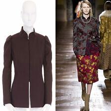 346caa53f405 DRIES VAN NOTEN AW15 brown wool cotton princess sleeves chinese mao jacket  FR40