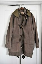 Adirondack by Savile Row, Leather Duffle Coat with Toggle Closure, Men's Size L