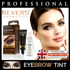 HENNA EYEBROW EYELASH TINT Long Lasting Brow Dye Kit Cream Brown Black 15ml UK