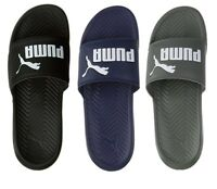 NEW Puma Men's PopCat Logo Fashion Beach Shoes Slip On Slide Sandals Slippers