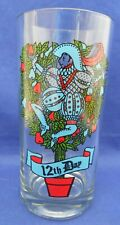 Twelve Days Of Christmas 12th Day Indiana 2350 Drinking Glass Tumbler 12 oz.