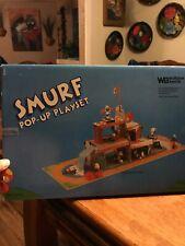Vintage Smurf Pop-Up Playset 1983 Smurf Sports Village for Figurines