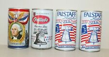 New ListingLot of 4 Patriotic Bi Centennial Beer Cans Empty Falstaff Ortlieb's Liberty Bell