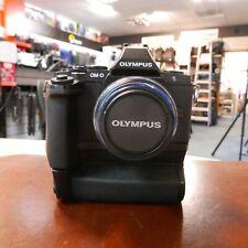 Used Olympus OM-D E-M5 + Grip + 14-42mm MSC R II Lens (12031 actuations) - 1 YEA