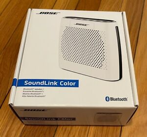 Bose SoundLink Color Bluetooth Speaker (White) Portable Rechargeable Lithium Ion