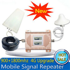 LTE 4G GSM 2G 900/1800MHz 70dB dual band signal booster repeater antenna 1 Set