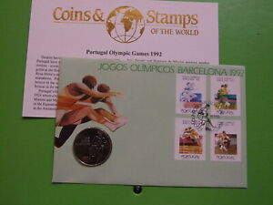 BU COIN COVER PORTUGAL 1992 200 ESCUDOS BARCELONA OLYMPIC GAMES .. SEE POSTAGE