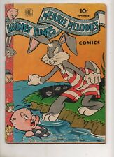 Looney Tunes Comics #35 1944 BUGS BUNNY PORKY PIG Bathing Suit Swim Cover! VG+