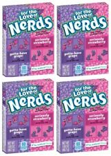 4x Formally Wonka for The Love of Grape and Strawberry Nerds 46.7g Sweets