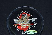 UDA Hunter Shinkaruk Autograph 2013 NHL Entry Draft Puck BNJ
