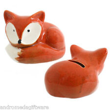 Ceramic Cute Fox Money Box !FREE UK P&P!