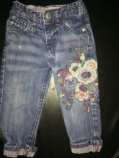 Little Rocha Baby Girls Jeans 12-18 Months Embroidered